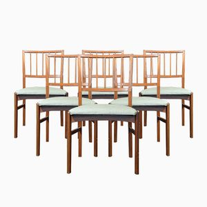 Mid-Century Teak Chairs, Set of 6