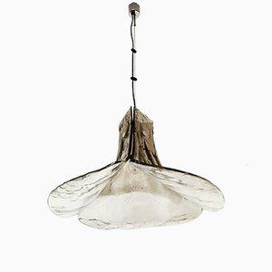 Lámpara colgante de cristal de Murano ahumado de J.T. Kalmar, años 60