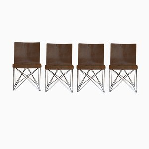 Chairs by Jean Louis Berthet for Unik, Set of 4