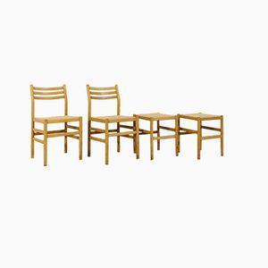 Modell Weekend Chairs & Hocker von Pierre Gautier Delaye für Vergnères, 1950er, 2er Set