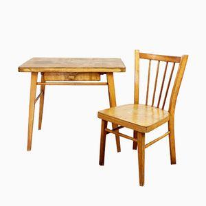 Mesa y silla infantil vintage de Baumann