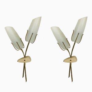 Moderne italienische Wandlampen aus Metall, 1960er, 2er Set