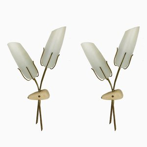 Modernist Italian Metal Sconces, 1960s, Set of 2