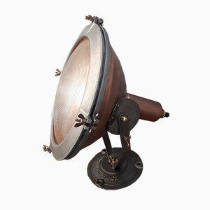 Industrielle Vintage Projektorlampe mit Gehäuse aus Kupfer von Holophane