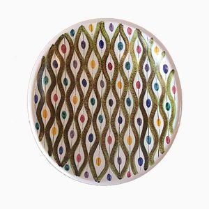 Vintage Faience Platter by Stig Lindberg for Gustavsberg