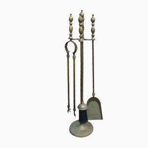 Vintage Brass Fireplace Accessories