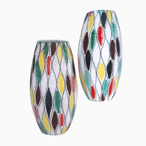 Modernist Harlequin Vases by Fratelli Fanciulacci, 1965, Set of 2
