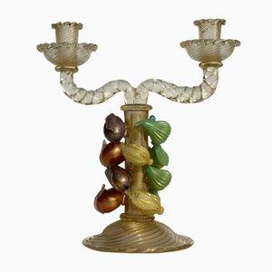 Italienische Kerzenhalter aus Muranoglas von Ercole Barovier für Barovier & Toso, 1940er