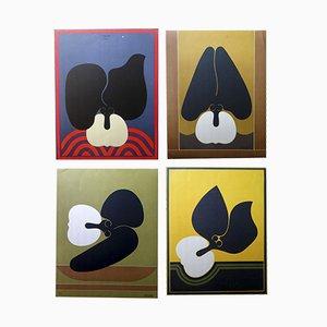 Lithographies by Alberto Arboleda, 1970s, Set of 4