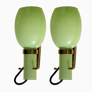 Mid-Century Italian Wall Lamps from Stilnovo, Set of 2