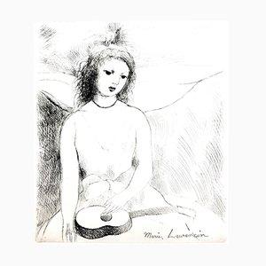 Gravure à l'Eau-Forte Woman Angel par Marie Laurencin, 1946