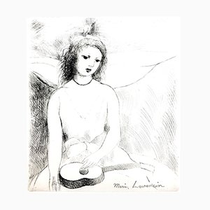 Woman Angel Etching by Marie Laurencin, 1946