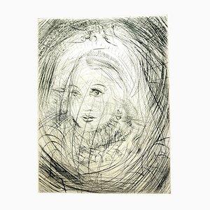 Gravure à l'Eau-Forte Marguerite par Salvador Dalí, 1969