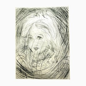 Marguerite Etching by Salvador Dalí, 1969