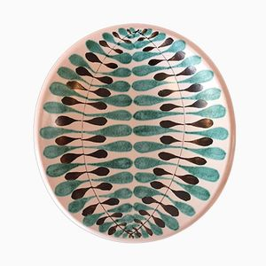 Vintage Faience Platter by Stig Lindberg for Gustavsberg