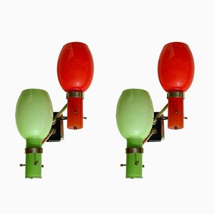 Italian Wall Lamps from Stilnovo, 1950s, Set of 2