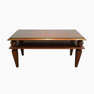 Tavolino da caffè Art Déco in mogano, anni '30