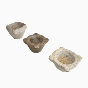 Antique Stone Mortars, Set of 3