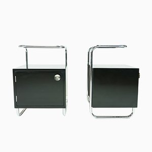 Bauhaus Nightstands from Mücke Melder, 1930s, Set of 2