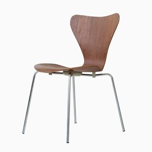 Model 3107 Stacking Chair in Teak by Arne Jacobsen for Fritz Hansen, 1960s