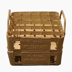 Caja para botellas Walter Daum Ortelsburg de acero, años 30. Juego de 2