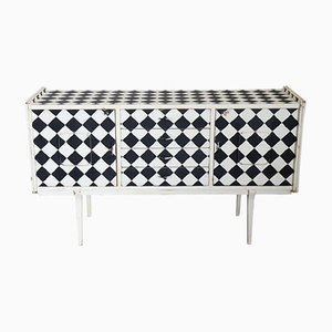 Vintage Sideboard with Kinetic Motif, 1960s