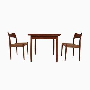 Tavolo con due sedie di Niels O. Møller per J.L. Møllers, 1960