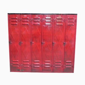 Industrial Steel Locker with 6 Doors