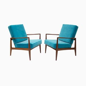 Afromosia Armchairs, 1960s, Set of 2