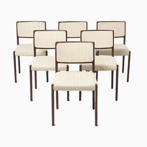 Sedie da pranzo modello 80 di Niels O. Møller per J.L. Møllers, anni '60, set di 6