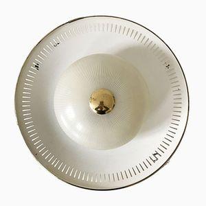 Deutsche Mid-Century Modern Decken- oder Wandlampe, 1950er