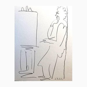 Litografía The Painter de Pablo Picasso, 1962
