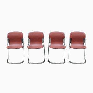 Beistellstühle von Willy Rizzo für Cidue, 1970er, 4er Set
