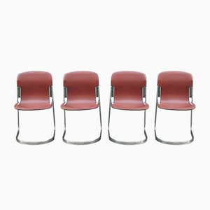 Side Chairs by Willy Rizzo for Cidue, 1970s, Set of 4