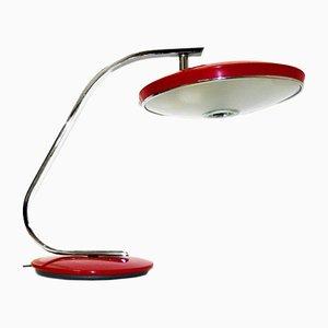 Lámpara de escritorio 520C vintage en burdeos de Fase