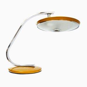 Lámpara de escritorio 520C vintage en mostaza de Fase