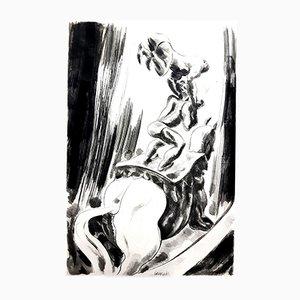 Gravure à l'Eau-Forte Circus par Jean Gabriel Daragnès, 1946