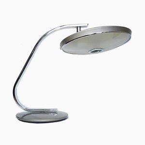 Vintage 520C Schreibtischlampe in Grau von Fase