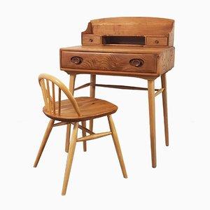Schreibtisch und Hocker von Lucian Ercolani für Ercol, 1960er