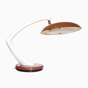 Vintage Boomerang 64 Brown and White Desk Lamp from Fase