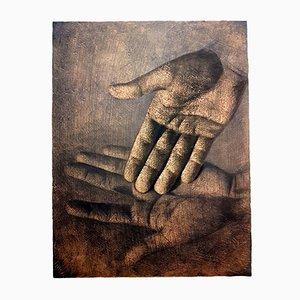 Hands Lithographie von Isia Leviant, 1970er