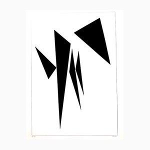 Minimalistische Lithografie Komposition von Geneviève Claisse