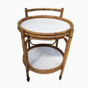 Italian Bamboo Bar Cart, 1960s