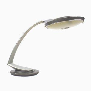 Lampe de Bureau Boomerang 2000 Vintage Grise de Fase