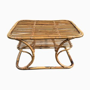 Italian Bamboo Coffee Table, 1960s