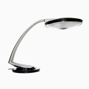Vintage Boomerang 2000 Black and Grey Desk Lamp from Fase