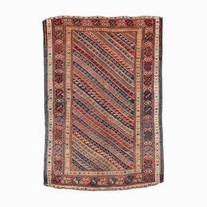 Tapis Kurdish Antique Fait Main, 1860s