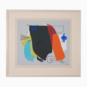 Mid-Century Phantom I Serigraph Graphic by Willi Baumeister, 1951