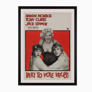 Poster del film A qualcuno piace caldo, Jugoslavia, 1959