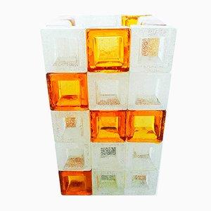 Lampe de Bureau Cube par Albano Poli pour Poliarte, Italie, 1960s